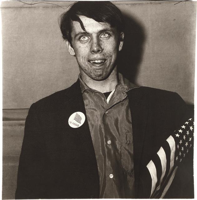 Diane Arbus, 'Patriotic Young Man with a Flag, N.Y.C.', 1967, Phillips