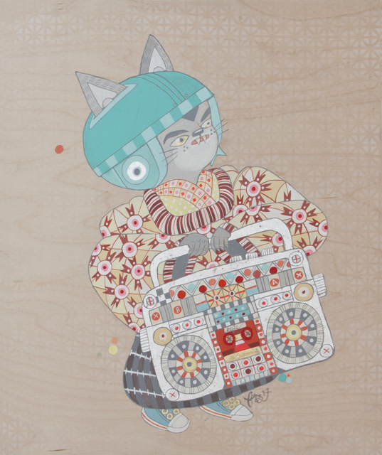 ", '""boombox cat"",' , Spoke Art"