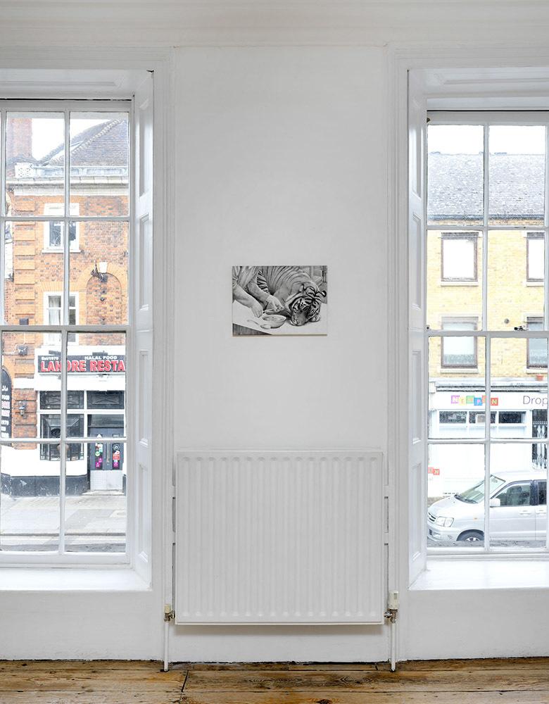 'Dark Smoke' installation view, work by Dan Beudean