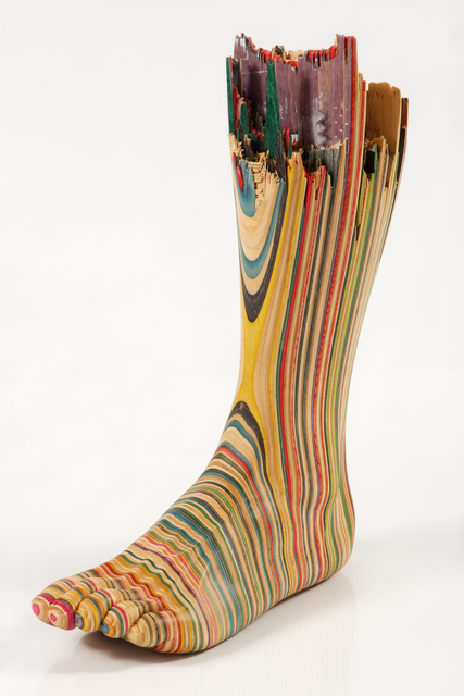 Haroshi, 'Screaming foot', 2010, Sculpture, Used skateboards, Coleccion SOLO