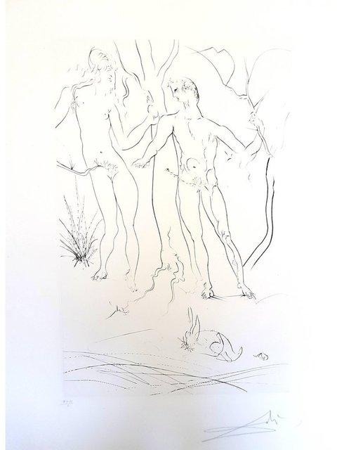 """Salvador Dalí, 'Original Etching """"Adam and Eve"""" by Salvador Dali', 1971, Galerie Philia"""