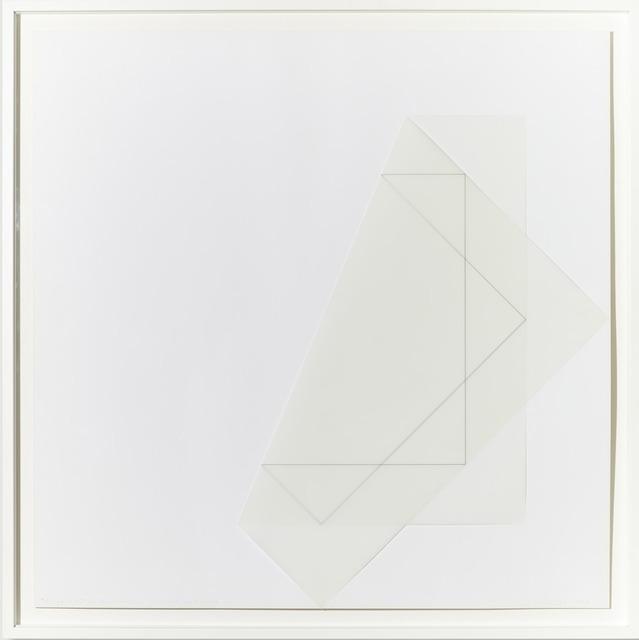 , 'Pliage 45° d'un calque avec un carré sur la pointe,' 1978, Galerie Zlotowski