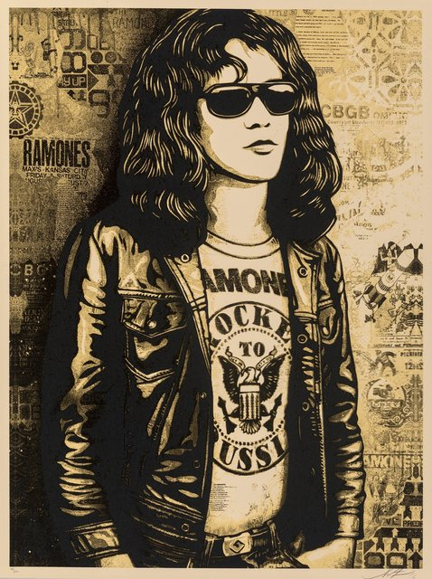 Shepard Fairey, 'Tommy Romane Collage (Gold)', 2016, Heritage Auctions