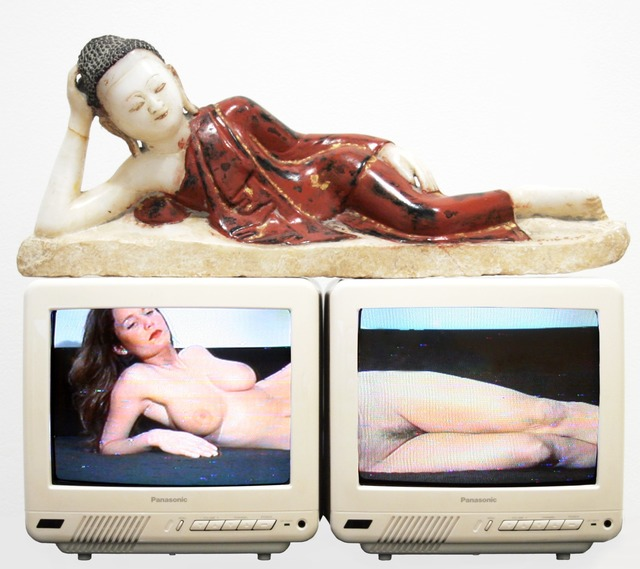Nam June Paik, 'Reclining Buddha,' 1994, James Cohan