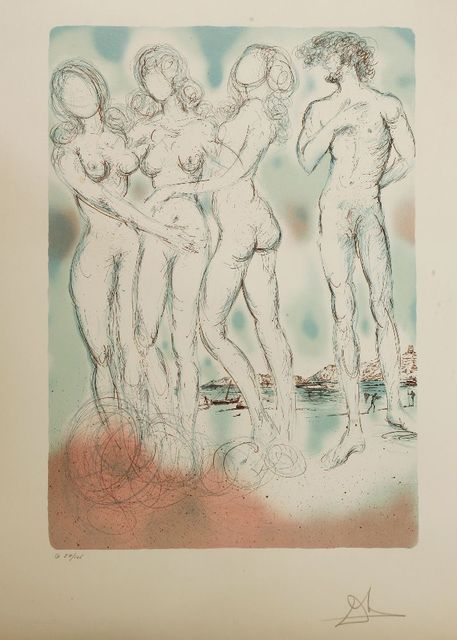 Salvador Dalí, 'THE JUDGMENT OF PARIS', 1979, Print, Lithograph printed in colours, Sworders