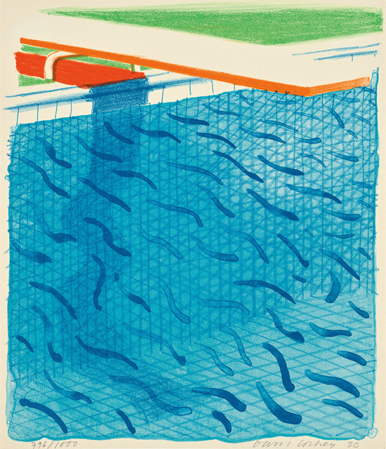 David Hockney, 'Pool Made with Paper and Blue Ink for Book, from Paper Pools', 1980, Phillips