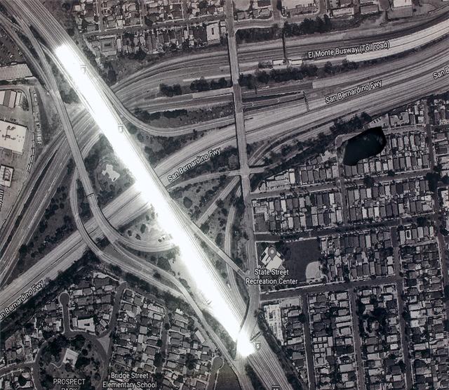 , 'Borders and Highways (Los Angeles - Tijuana),' 2018, Leyendecker