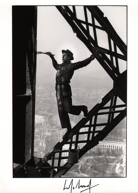 Marc Riboud, 'The Eiffel Tower Painter, Paris', 1953, Atlas Gallery