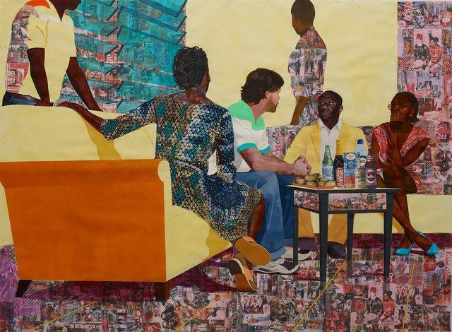 Njideka Akunyili Crosby, 'Something Split and New', 2013, Victoria Miro