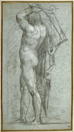 Titian, 'Nude Man Carrying a Rudder on His Shoulder', 1555-1556, J. Paul Getty Museum