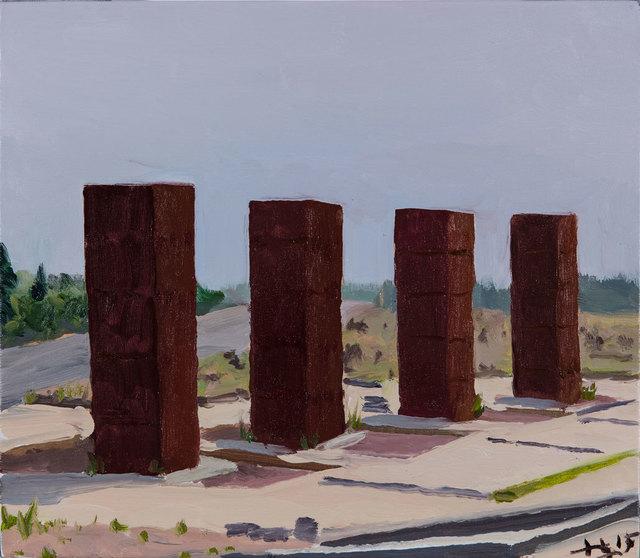 , 'Four Columns,' 2015, Faurschou Foundation
