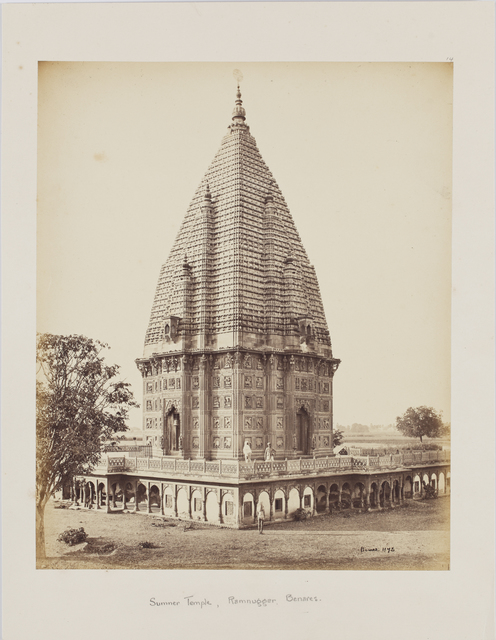 , 'Sumeree temple at Ramnuggur, Benaras,' c.1863-1871, Sarmaya
