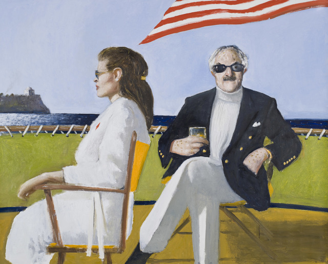 Julio Larraz, 'La Fragoletta and the King of Diamonds off the Coast of Cumae,' 2011, Contini Art UK