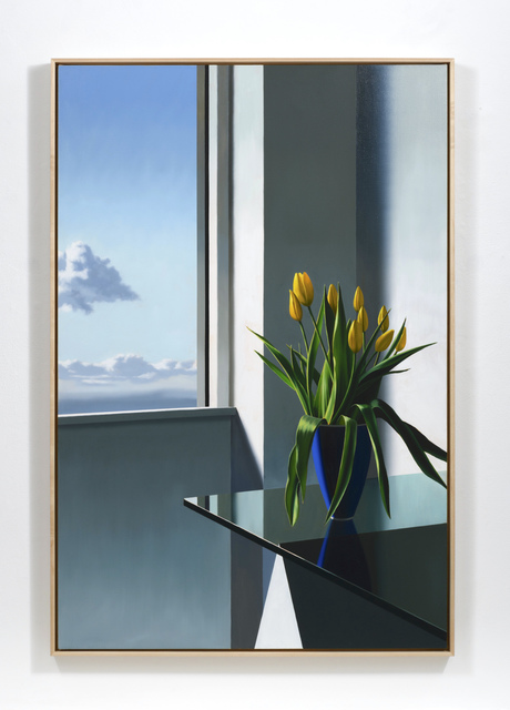 , 'Tulips on Glass Table,' 2019, Leslie Sacks Gallery