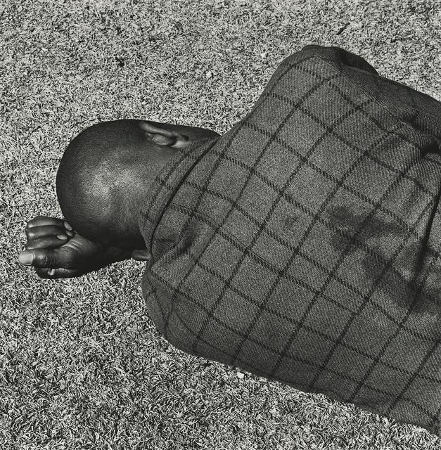 , 'Man sleeping, Joubert Park, Johannesburg,' August 1975, Pace/MacGill Gallery