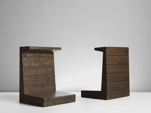 , 'Two Wooden Shrines of Stools, The Netherlands,' 1960's, MORENTZ