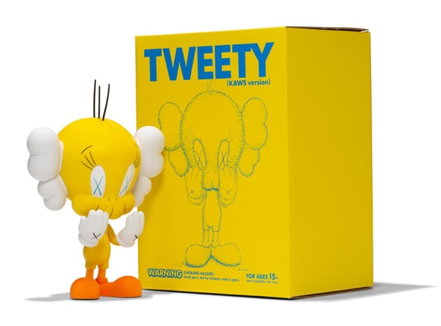 KAWS, 'Tweety (Yellow)', 2010, Sculpture, Painted cast vinyl, Lougher Contemporary Gallery Auction