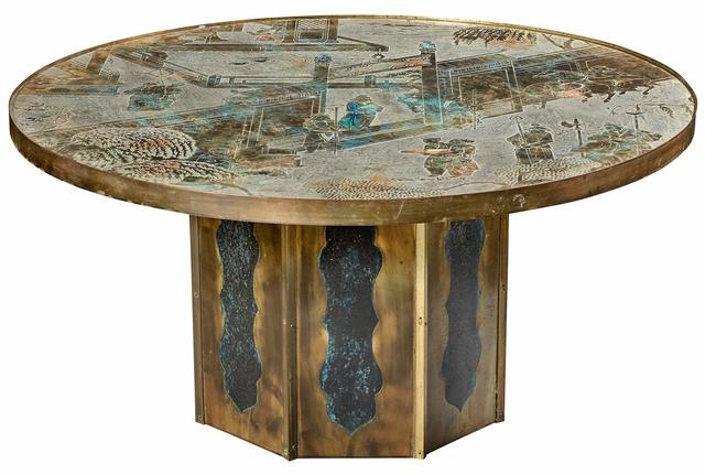 'Philip and Kelvin LaVerne Patinated Bronze Chan Coffee Table', 1960s, Design/Decorative Art, Doyle
