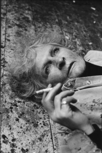 , 'Maggi Hambling on her studio floor ,' 2017, Candida Stevens Gallery