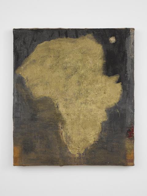 Vivienne Koorland, 'Gold Africa', 2011, Painting, Oil and pigment on burlap and linen, Richard Saltoun