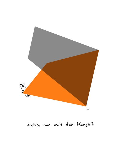 , 'Wohin mit der Kunst,' 2018, Galerie Floss & Schultz