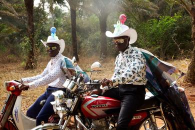 """Chikwelu and Chiwetalu Ezegwu, Kenzo Campaign """"GIDI GIDI BỤ UGWU EZE"""" (Unity is strength)"""