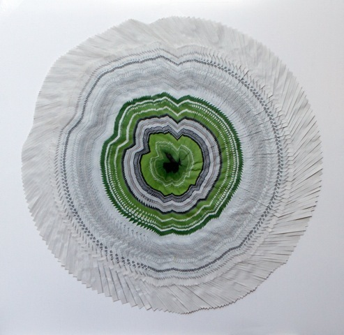 , 'Circle of The Times (Green Leaf Rings),' 2014, Maddox Arts