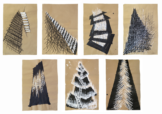 , 'Set of 7 Sketches ,' 2016, Zilberman Gallery
