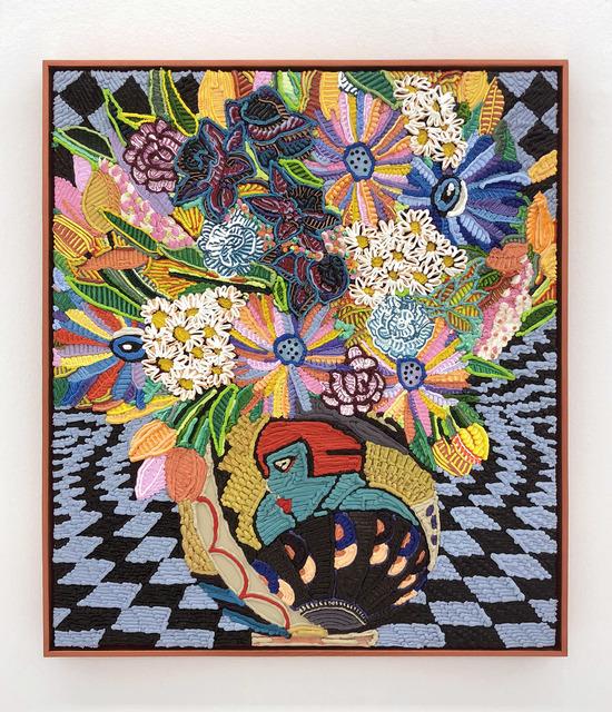 , 'Future Female with Fan, Longwy Vase,' 2018, The Hole