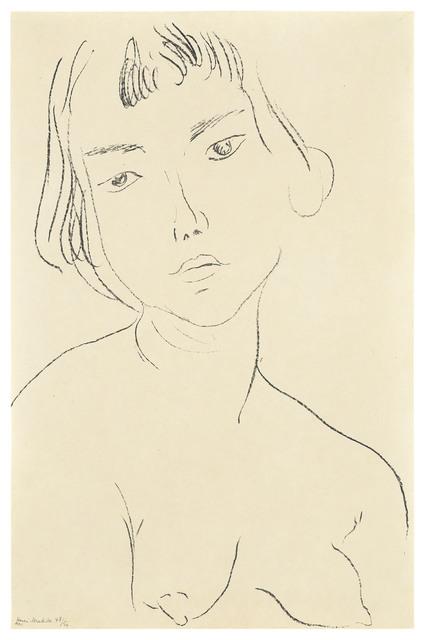 Henri Matisse, 'Visage légèrement penché vers la gauche', 1913, Christie's