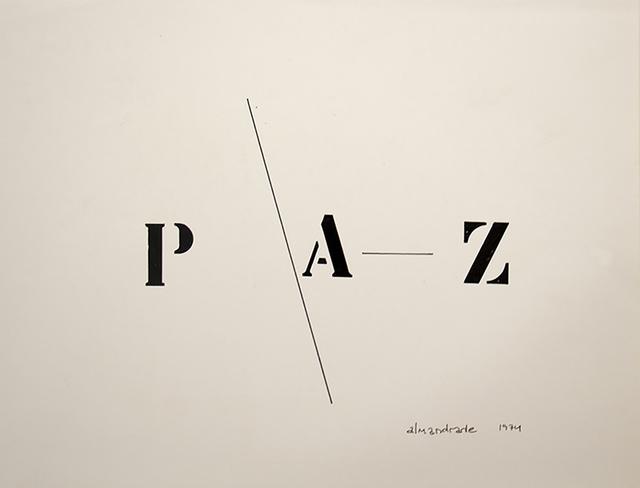 , 'Peace - Visual Poem,' 1974, Galeria Karla Osorio