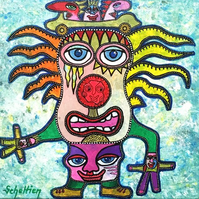 , 'The clown,' 2017, Galerie Artefact