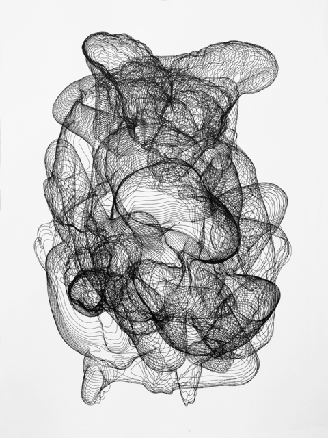 Zachary Eastwood-Bloom, 'Saturn', 2010, Print, Plotted ink drawing, Pangolin London