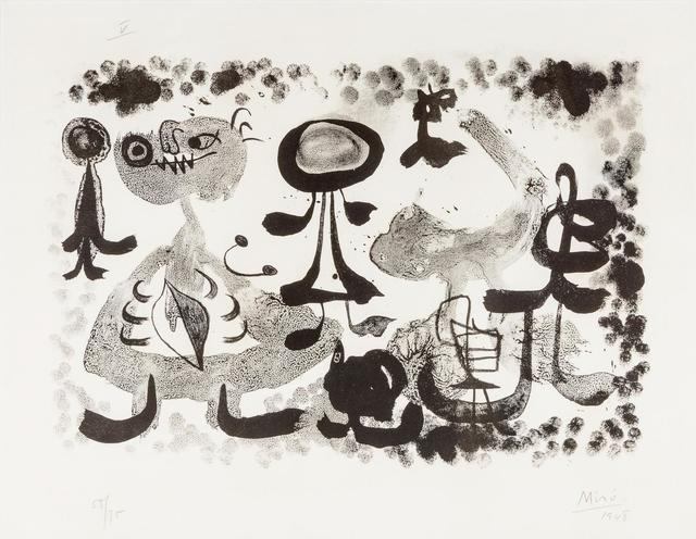 Joan Miró, 'Plate V (from Album 13)', 1948, Hindman