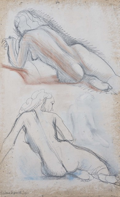 , 'Two studies of a girl on white,' 1951, Connaught Brown