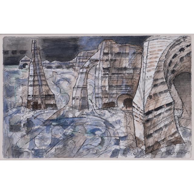 Marcel Gromaire, 'Etretat, les trois falaises', 1953, PIASA