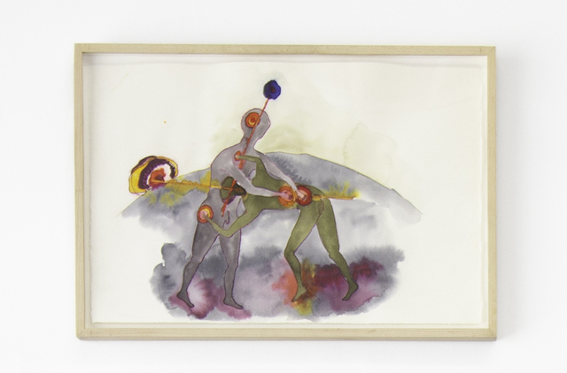 Katy Schimert, 'Untitled ', 2001, Drawing, Collage or other Work on Paper, Ink and watercolor on paper, Ochi Projects