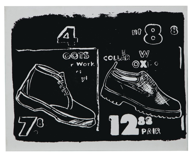 Andy Warhol, 'Work Boots (Negative)', 1985-1986, Print, Synthetic polymer and silkscreen inks on canvas, Christie's Warhol Sale