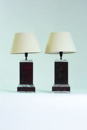 Pair of table lamps (rectangulaires)