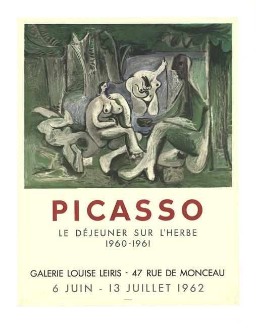Pablo Picasso, 'Le Dejeuner Sur L'Herbe', 1962, ArtWise