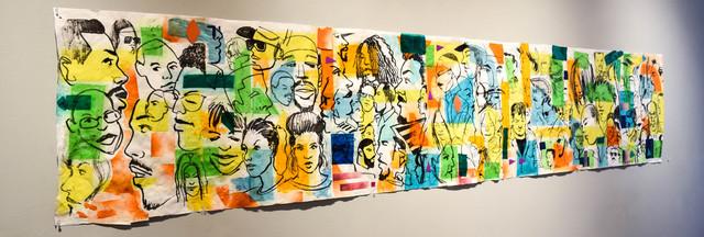 , 'Subway Emotion II,' 2018, Carter Burden Gallery