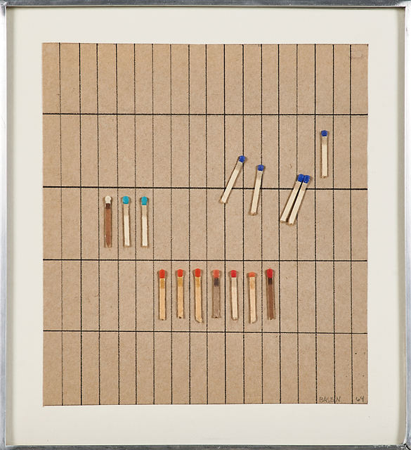 Dan Basen, 'Untitled', 1964, Drawing, Collage or other Work on Paper, Matches and mixed media on paper mounted to backing board (framed), Rago/Wright