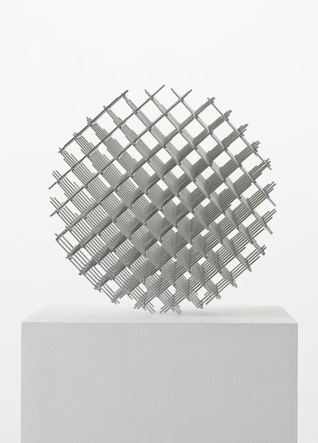 François Morellet, 'Sphère-Trames', 1962, Sculpture, Stainless steel rods welded by points, Galerie Thomas