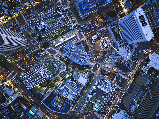 , ' Aerial Views Radiating Umeda,' 2012, aQur Gallery