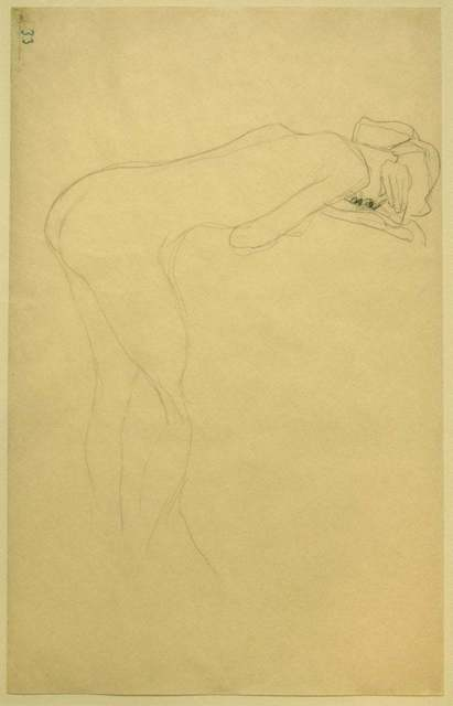Gustav Klimt, 'Nude of Woman Reclined On the Back of a Chair on the Right', ca. 1905, Wallector