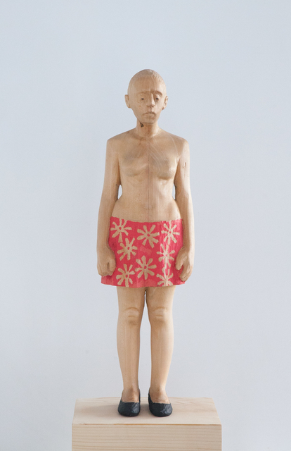 Antonio Samo, 'Girl with a flower dress', 2016, Sculpture, Linden and pine wood, SET ESPAI D'ART