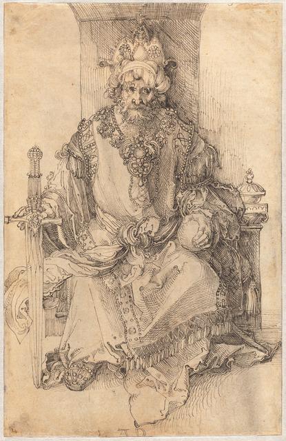 Albrecht Dürer, 'An Oriental Ruler Seated on His Throne', ca. 1495, National Gallery of Art, Washington, D.C.