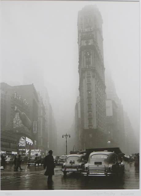 Fred Stein, 'Times Square in the Rain, estate stamped ', 1949-this printing 1994, Joseph Grossman Fine Art Gallery