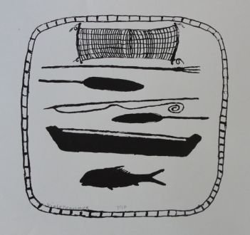 Violet Hammer, 'Canoe and Fishing Implements', 2009, Rebecca Hossack Art Gallery
