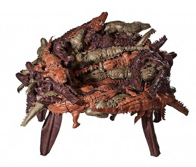 , 'Alligator Banquete in Leather,' 2012, Galerie Clemens Gunzer